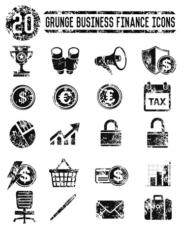 Finance   Marketing icons on white background,vector Vector