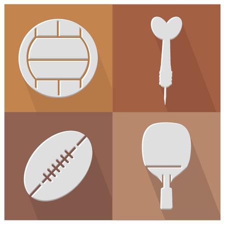Sport flat icons,vector Vector