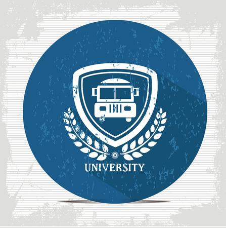 School bus button,vector Vector