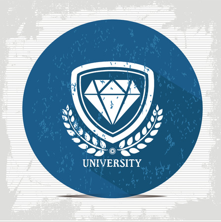 Diamond badge symbol,vector Vector