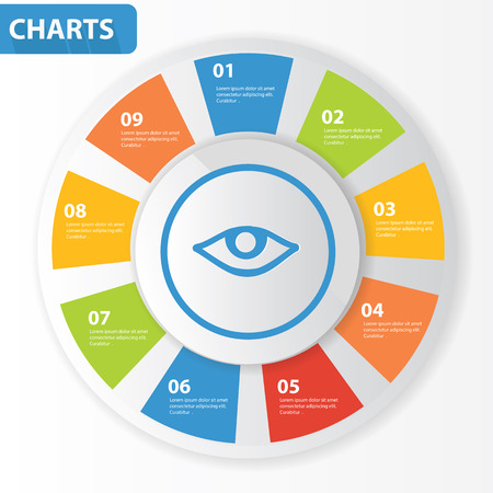 hypnotizing: Eye info graphics,charts design,vector