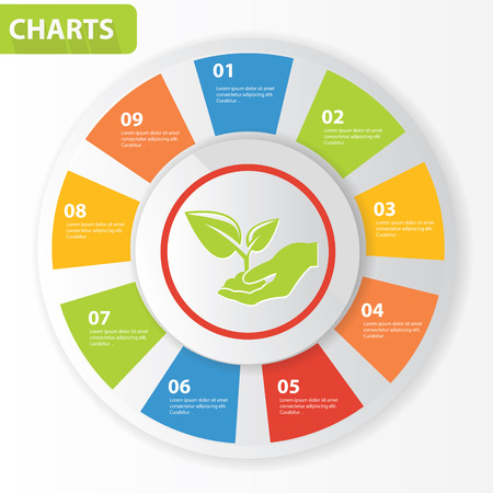 Growth info graphics,charts design,vector Vector