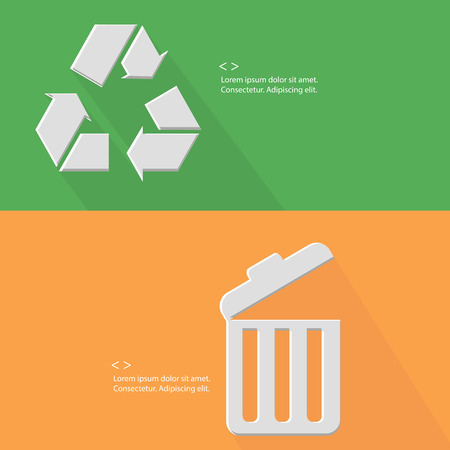 Recycle and bin ,Blank for text,vector Vector
