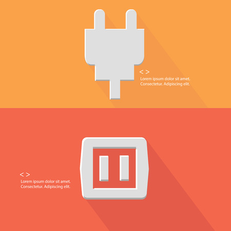 Plug,Electricity ,Blank for text,vector Illustration