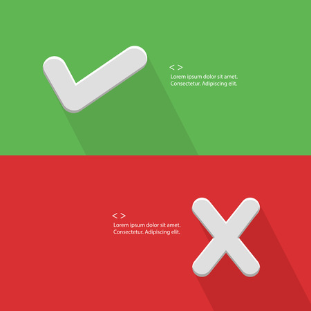 false: True and false symbol,blank for text,vector Illustration