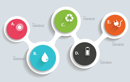 Ecology info graphics,blank for text,vector Vector