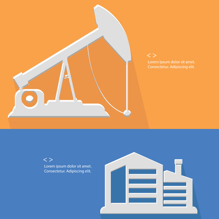 Factory and oil industry,Blank for text,vector Vector