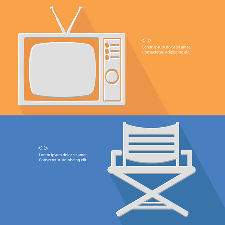 Television and chair symbol,Blank for text,vector Vector