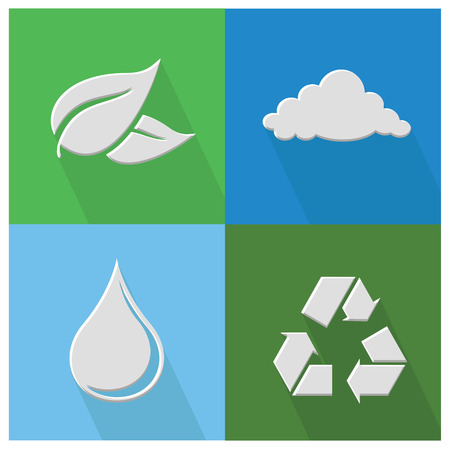 antipollution: Icono de la naturaleza, vector