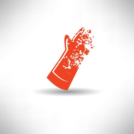 Glove symbol,grunge vector Vector