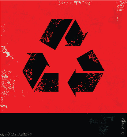 recycle symbol vector: Recycle symbol, vector