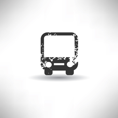 Bus symbol,grunge vector Vector