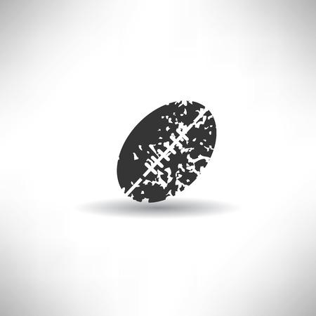 Rugby symbol,grunge vector Vector