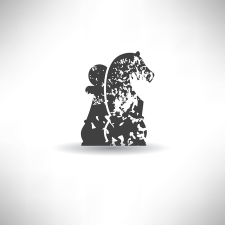 pawn king: Chess symbol,grunge vector