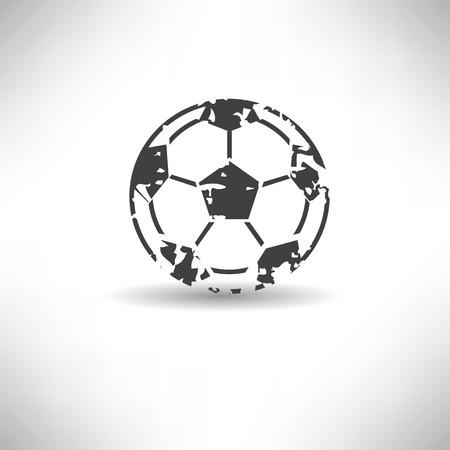 dropshadow: Football symbol,grunge vector