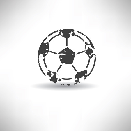 Football symbol,grunge vector