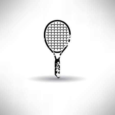 Tennis symbol,grunge vector Vector