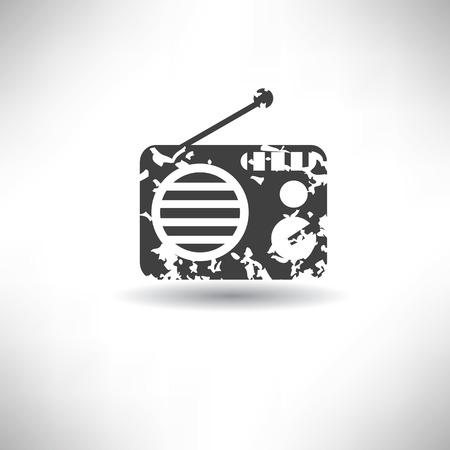Radio symbol,grunge vector Vector