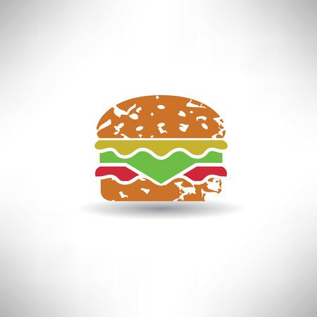 bap: Hamburger symbol,grunge vector Illustration