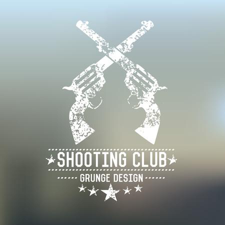 seal gun: Gun badge,grunge vector