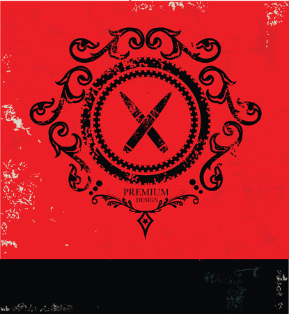 Bullet symbol,grunge vector Illustration