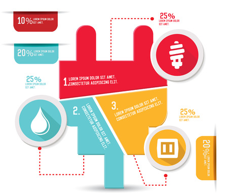 adapter: Energy concept info graphics,vector Illustration