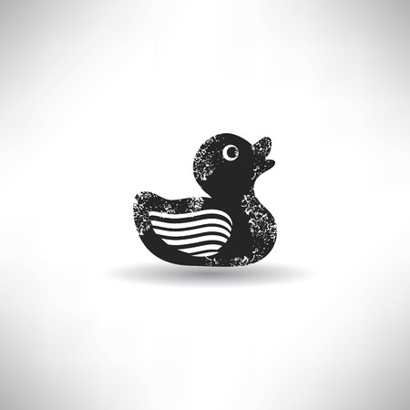 Duck,grunge vector Vector