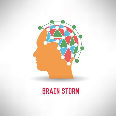 brain storming: Brain storm,vector