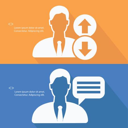 referrals: Human resource concept,vector