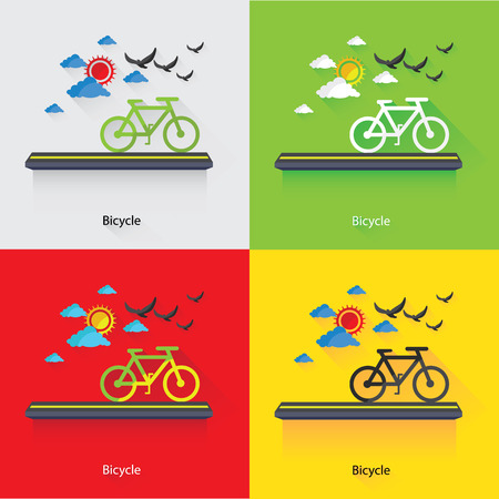 Bicycle,Ecology Concept,vector Vector