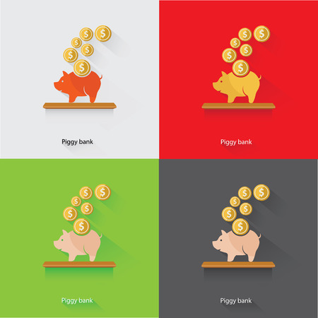 Piggy Bank Concept,vector Vector
