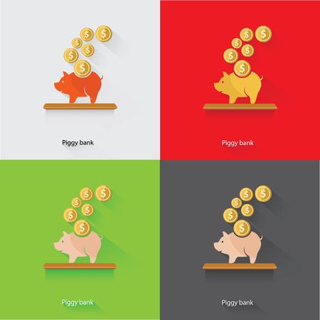 Piggy Bank Concept,vector Vector