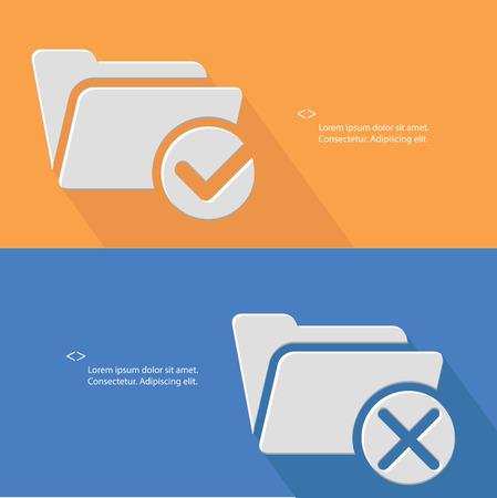Folder concept,vector Vector