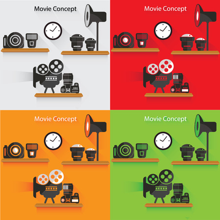 journalistic: Photography concept,vector Illustration