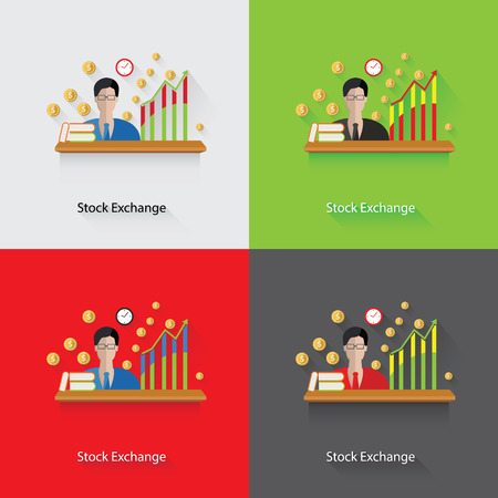 Stock exchange concept,vector Vector