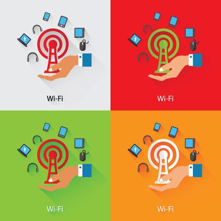 Wireless,Communicat ion Concept,vector Vector