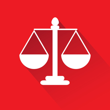 scale of justice: Justice scale symbol vector