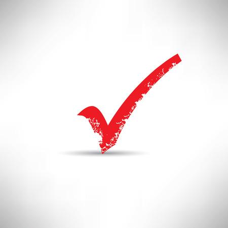 check mark: Check mark symbol,grunge vector Illustration