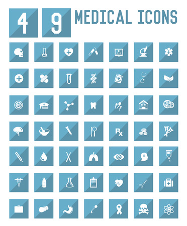 49 Medical icons,vector Vector