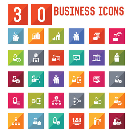 30 Business,Human resource icons,vector