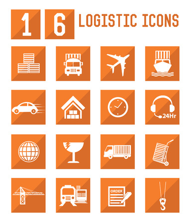 Logistic and storage icons,vector Vector