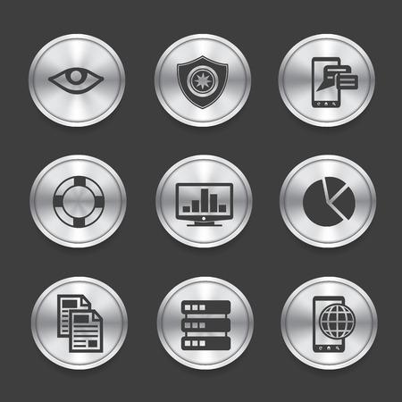 SEO icons,Silver vector Vector