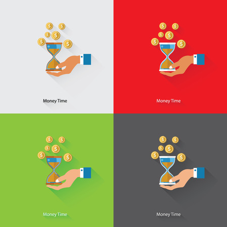 money time: Money Time Concept,vector Illustration