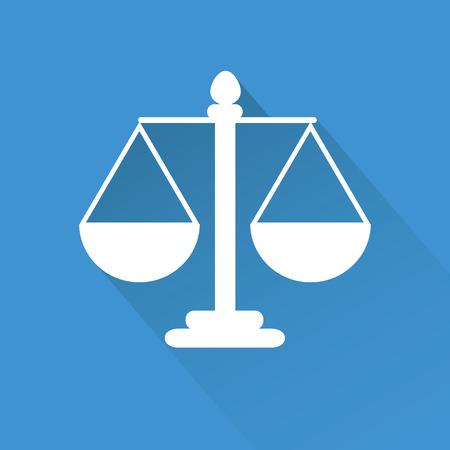 justice scale: Justice scale symbol vector