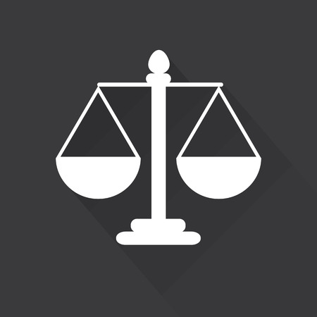 weighing scale: Justice scale symbol vector