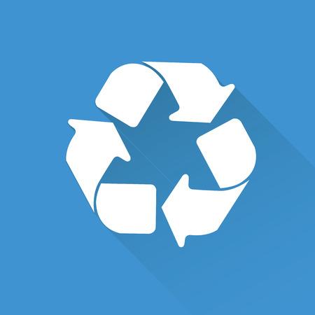 Recycle symbol,vector Vector