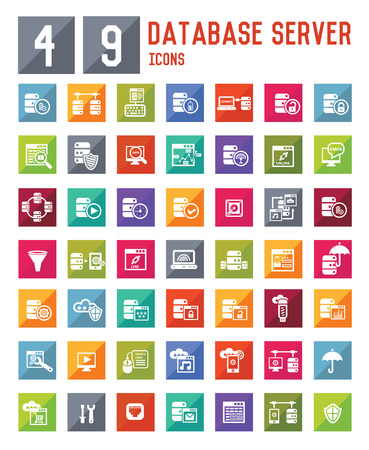 49 Database server icons,vector Vector