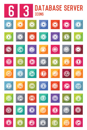 nota: 63 Symbol on website icon set,vector