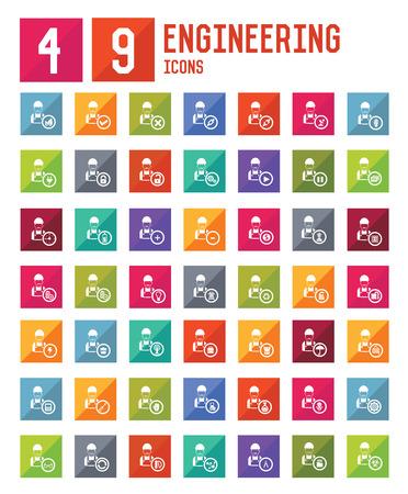 49 Engineering icons,vector Vector