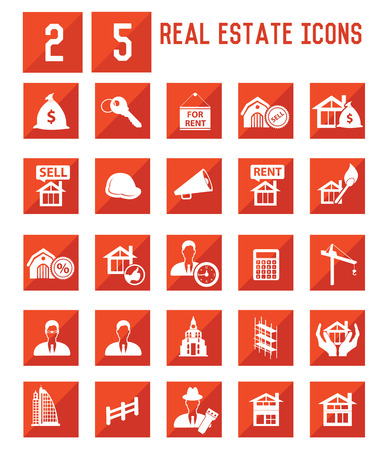 Real estate icons,vector Vector